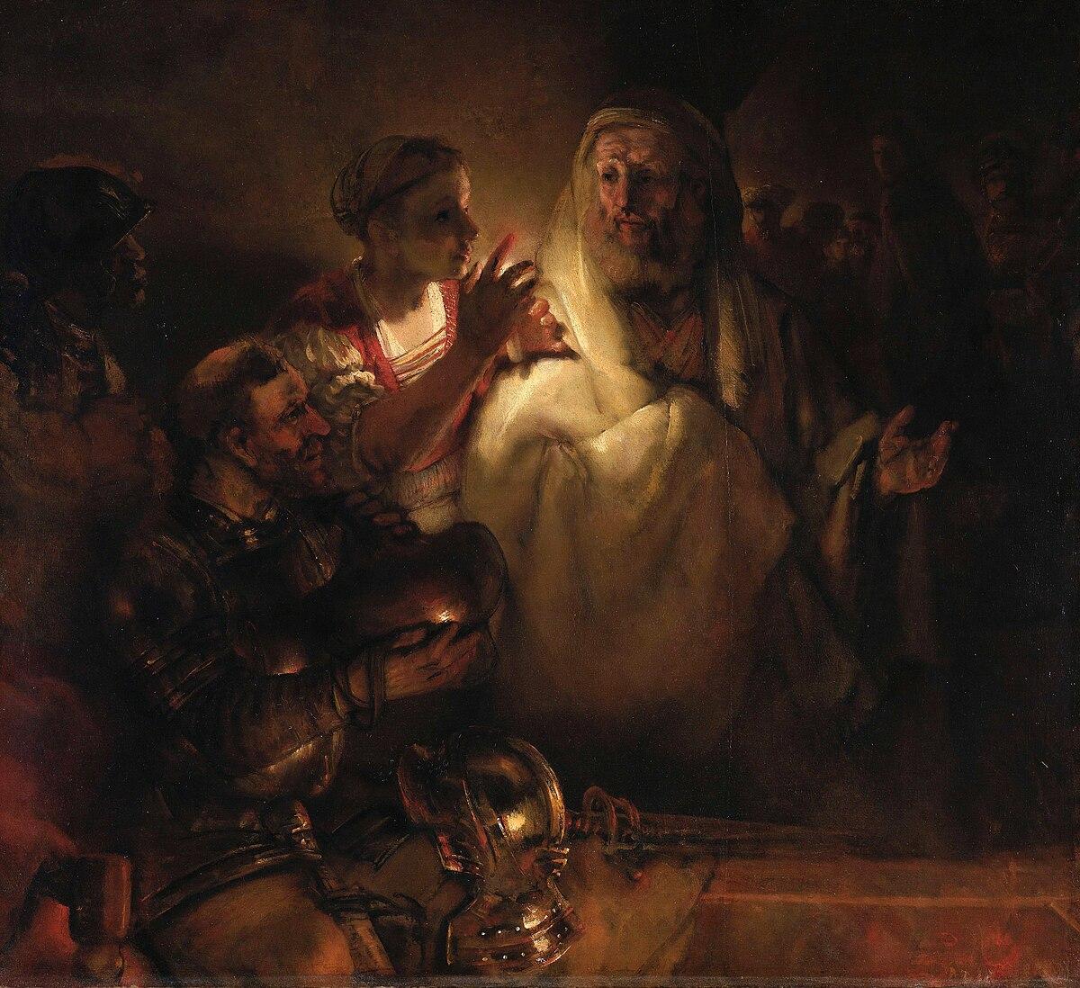 Le Reniement de saint Pierre (Rembrandt) — Wikipédia