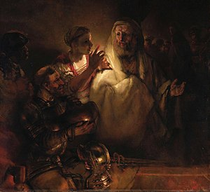 Peter's Denial by Rembrandt, 1660