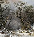 Remigius Adrianus Haanen - Hunters in the forest in winter (1872).jpg