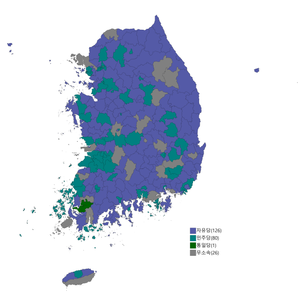 Republic of Korea legislative election 1958 districts result.png