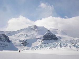 Resplendent Mountain - Resplendent from the north in winter