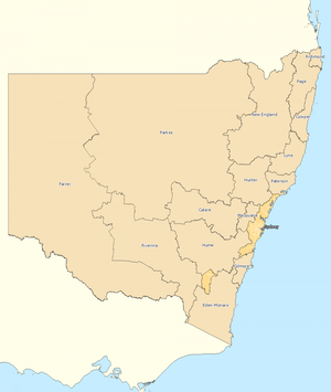 Rest of New South Wales divisions overview 2010
