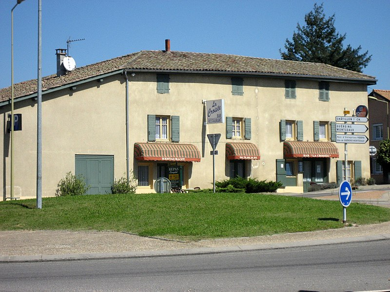 Restaurant on the D17 road - Guéreins (département de l'Ain , France)