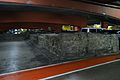 Restes arqueològiques, aparcament de la plaça del Castell de Pamplona.JPG