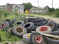 Retired wheels... - geograph.org.uk - 511515.jpg