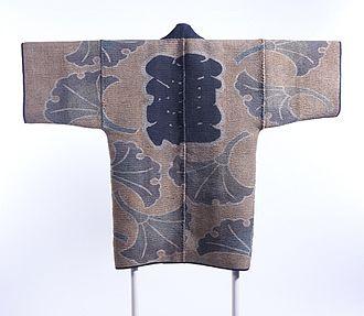 Sashiko stitching - Image: Reversible Fireman's Coat (hikeshibanten) with Interlocking Circles, Chinese Characters (kanji) and Ginkgo Leaves LACMA M.2000.78 (1 of 2)