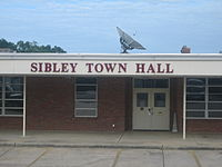 Sibley Town Hall at site of former Sibley High School