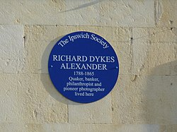 Richard dykes alexander blue plaque
