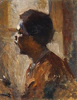 Rihard Jakopič - Profil črnca