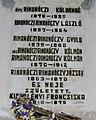 Rimanóczy-emléktábla a Barátok temploma kriptájában, Nagyvárad 062a.jpg