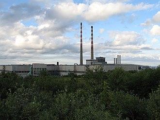 Irishtown, Dublin - View of Poolbeg Power Station from Irishtown nature park