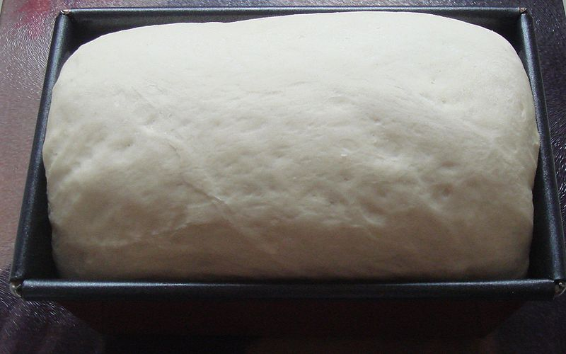 Файл:Risen bread dough in tin.jpg