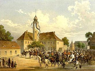 Teutschenthal - Rittergut Würdenburg, around  1860, Edition by Alexander Duncker