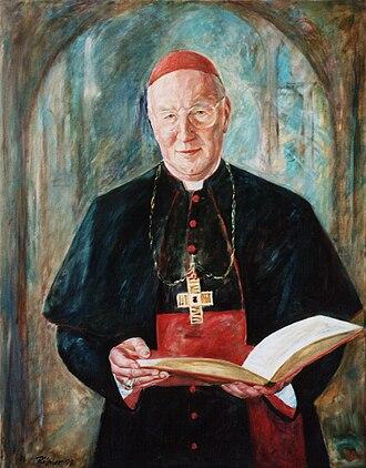 Friedrich Wetter - Cardinal Wetter,  portrait by Günter Rittner 1998