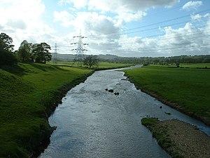 River Calder, Lancashire - The River Calder at Altham