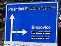 Road Sign with Serbian and Turkish Names Painted Out - Prizren - Kosovo.jpg