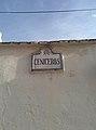 Road name sign in Granada, Spain.jpg