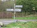 Road signs near Gatehouse Station. - geograph.org.uk - 1362641.jpg