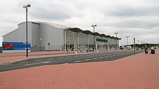 Doncaster Sheffield Airport Airport serving the cities of Doncaster and Sheffield, located in Finningley, England