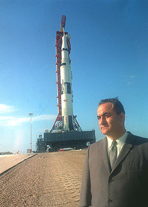 Rocco Petrone - Petrone at the Apollo 11 rollout at LC-39 on May 20, 1969