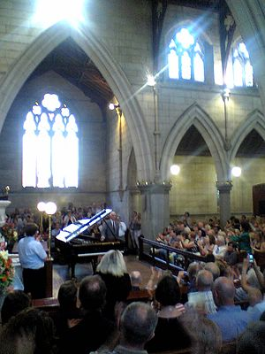 Roger Woodward - Roger Woodward performing at the Hunter Baillie Memorial Presbyterian Church, Annandale, Sydney