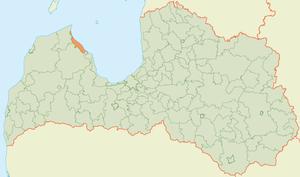 Roja Municipality - Image: Rojas novada karte
