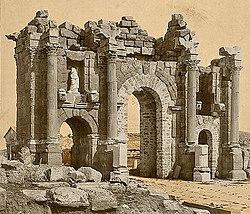 Roman Arch of Trajan at Thamugadi (Timgad), Algeria 04966r