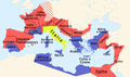 Roman empire 14 AD (provinces) it.png