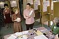 Ronald Reagan and Nancy Reagan voting at the polls for the Presidential election in Pacific Palisades California.jpg