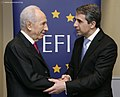 Rosen Plevneliev and Shimon Peres, March 2013. I.jpg