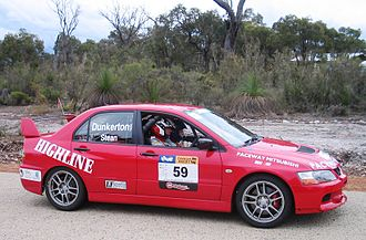 Targa West - Winner of both the 2005 and 2006 events, Ross Dunkerton in the 2006 rally