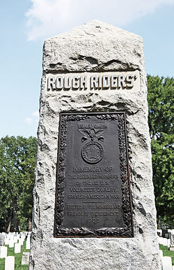 Rough Riders Monument - face - Arlington National Cemetery - 2011.JPG