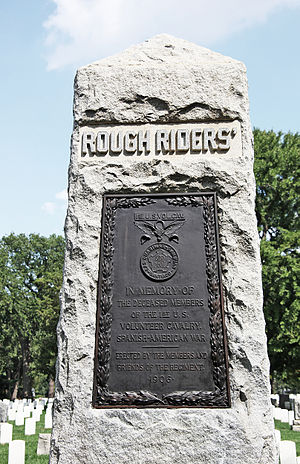 Rough Riders Memorial - Image: Rough Riders Monument face Arlington National Cemetery 2011