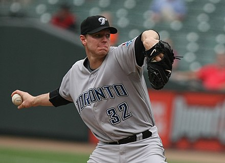 Blue Jays pitcher Roy Halladay during the 2009 season. Roy Halladay 2009 (1).jpg
