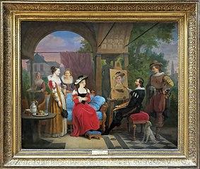 Rubens dans son atelier peignant Suzanne Fourment