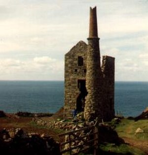 History of Cornwall - Ruin of Cornish tin mine