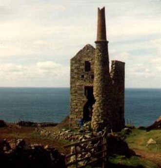 Mining in Cornwall and Devon - Ruin of Cornish tin mine