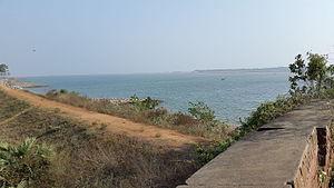 Ganjam - View of the Rushikulya river from Ganjam fort