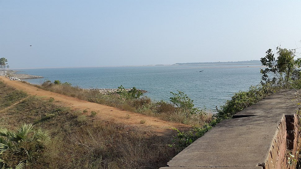 View of the Rushikulya river from Ganjam fort