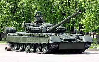 T-80 - This T-80BV has reactive armour adapted to its turret and hull. The later T-80U has a large applique of explosive reactive armour installed — providing higher crew and tank survivability than prior models.