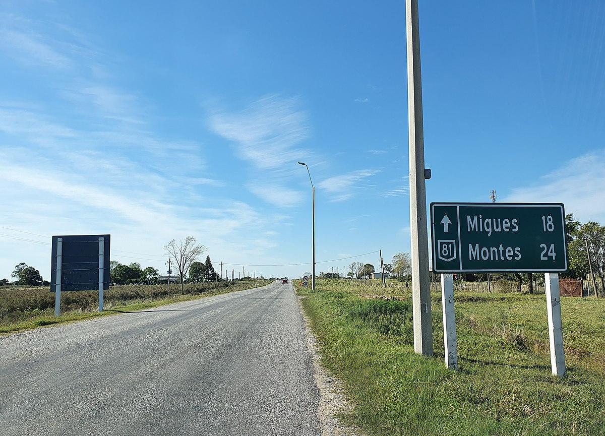Ruta 3 (Uruguay) - Wikipedia, la enciclopedia libre
