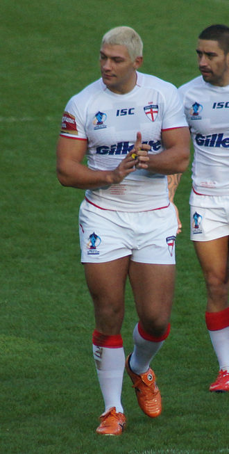 Ryan Hall (rugby league) - Hall while playing for England at the 2013 World Cup