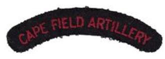Cape Field Artillery - SADF era Cape Field Artillery shoulder title