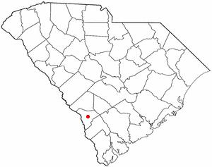 Allendale, South Carolina - Image: SC Map doton Allendale
