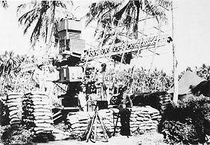 SCR-268 radar - SCR-268 radar deployed on Guadalcanal in August 1942