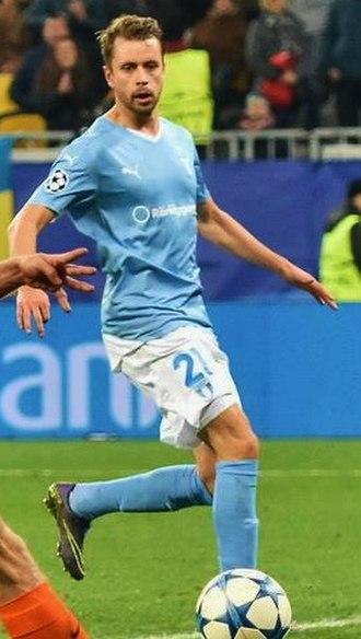 Kári Árnason - Kári playing for Malmö FF.
