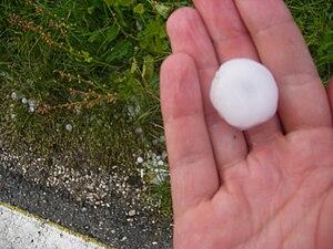 After hail storm at Šempas (Nova Gorica munici...