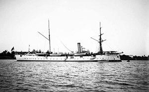 Bussard-class cruiser - Image: SMS Bussard Daressalam 1907 14