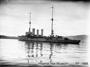 Königsberg-class cruiser (1915) - Emden in Scapa Flow