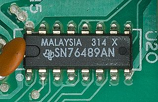 Texas Instruments SN76489 programmable sound generator chip